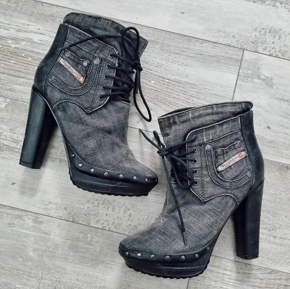 d36ac534e47 Diesel Shoes - TODAY ONLY⚠ ❗Diesel Desir Heel Platform Booties
